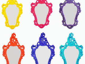 Espelhos Vintages em cores modernas, Miusa! www.miusa.com.br