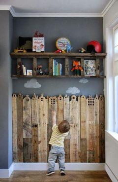 Reutilização de matérias para decoração de quarto infantil