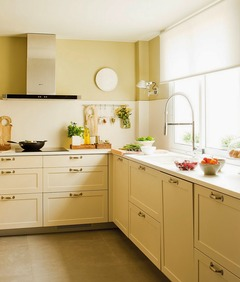Simples e charmosa essa cozinha!